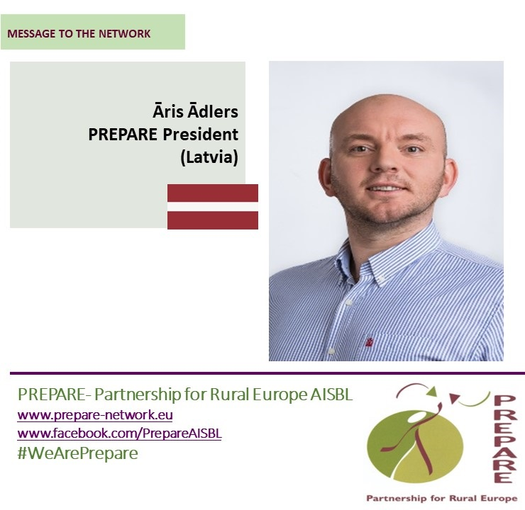 Message of the PREPARE President to the network