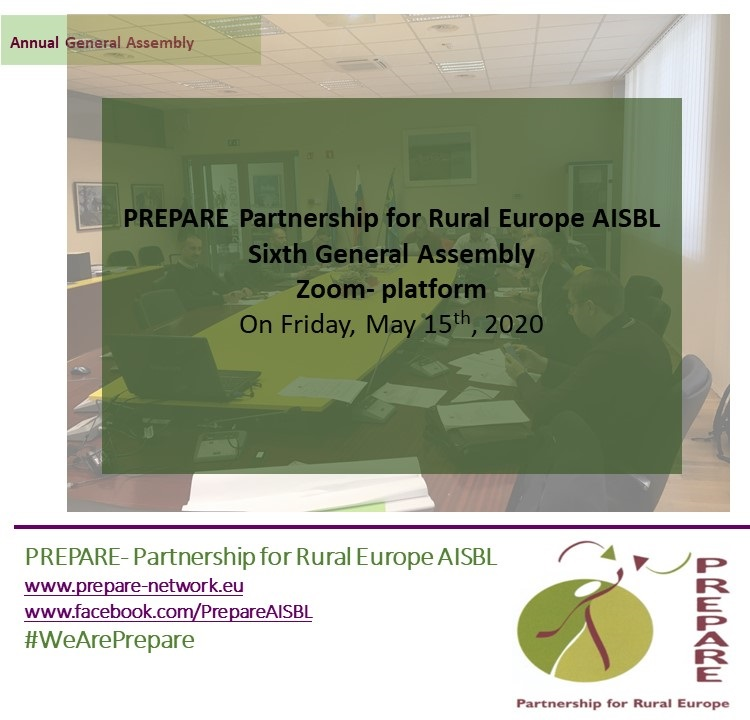 Partneriship for Rural Europe- PREPARE General Assembly 2020 5th of may via ZOOM platform