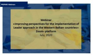 Webinar: Improving perspectives for the implementation of Leader approach in the Western Balkan countries.