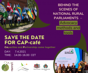 "CAP- Cafe """"Behind the Scenes of National Rural Parliaments – Advocacy methods and tools"""